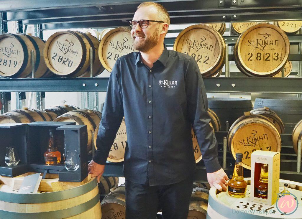 Master Distiller Mario Rudolf beim Presserundgang - St. Kilian Distillers