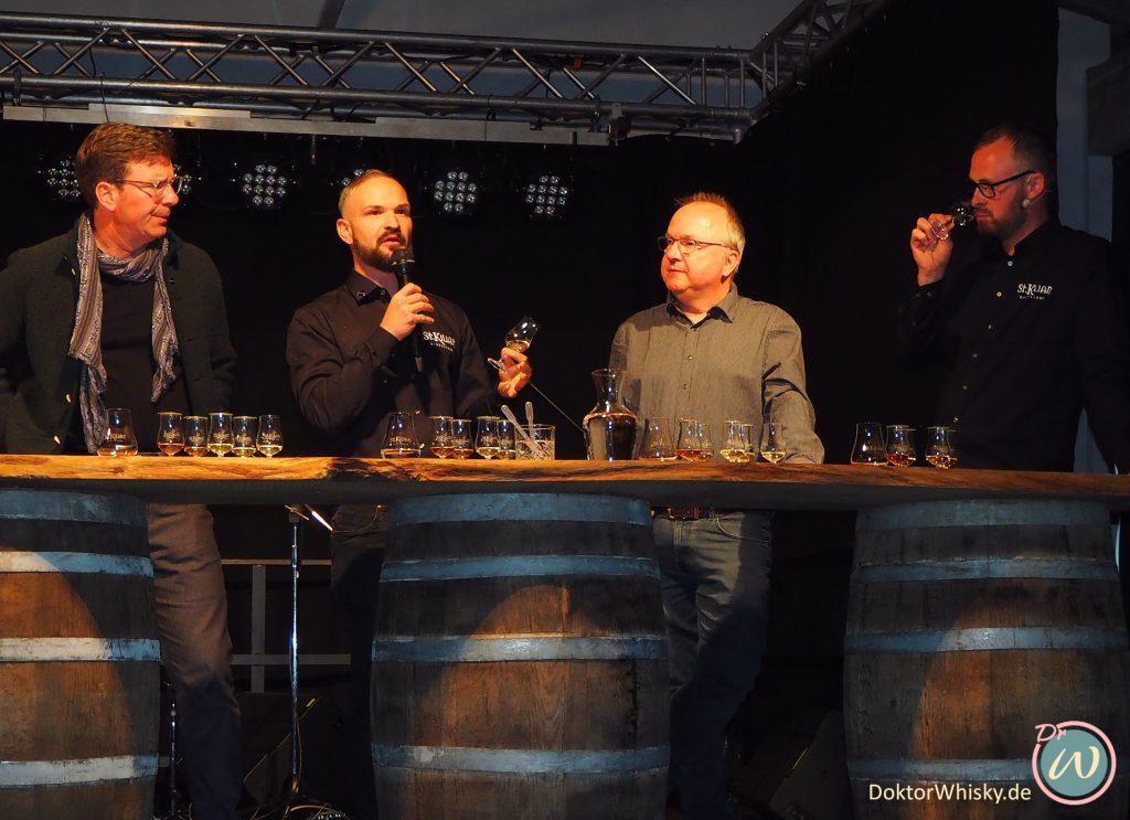 """Whisky-Präsentation mit Patrick """"Pat"""" Hock, Blender & Marketeer für St. Kilian Distillers und Master Distiller Mario Rudolf. St. Kilian Distillers"""