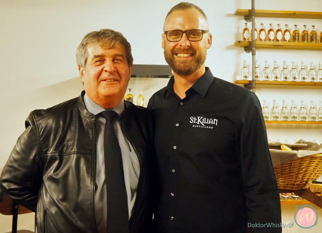 David Hynes und Master Distiller Mario Rudolf - St. Kilian Distillers